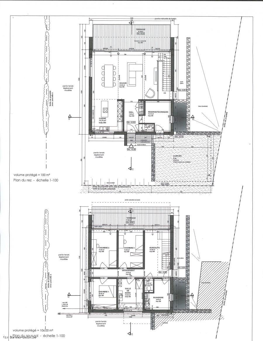 Bureau godin projet de construction neuve avec terrain for Projet de construction terrain maison